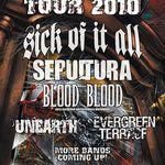 Datele oficiale pentru turneul european Sick Of It All si Sepultura