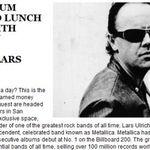 Cumperi o lectie de tobe si primesti o cina cu Lars Ulrich
