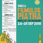 Astazi incepe Filmul de Piatra! Filme, teatru, concerte