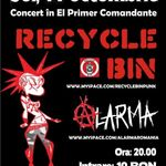 Concert Recycle Bin si Alarma in El Premier Comandante Bucuresti