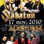 Concert Sabaton si Alestorm miercuri seara in Club Silver Church din Bucuresti