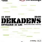 Concert Dekadens in club Underworld Bucuresti