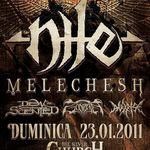 Concert Nile si Melechesh la Bucuresti in ianuarie 2011 (oficial)