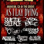 As I Lay Dying vor fi cap de afis la California Metalfest