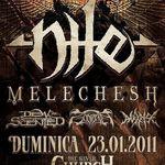 Programul concertului Nile si Melechesh la Bucuresti