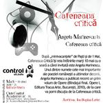 Angela Marinescu la Cafeneaua critica