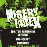 Concert Misery Index in iunie la Bucuresti