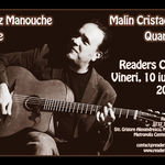 Concert Jazz Manouche: Malin Cristache Quartet la Readers Cafe
