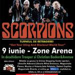 Concert Scorpions joi la Zone Arena din Bucuresti