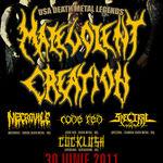 Spot video pentru concertul Malevolent Creation la Bucuresti