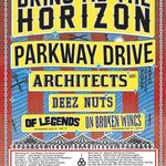 Bring Me The Horizon, Parkway Drive si Architects in turneu