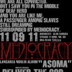 Mediocracy lanseaza noul album duminica seara in Club Fabrica