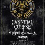 Turneu Cannibal Corpse, Triptykon si Enslaved