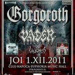 Detalii oficiale despre concertul Gorgoroth si Vader din Cluj-Napoca