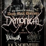 Concert Demonical, Volturyon si Slytract joi in Club Fabrica