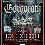 Programul concertului Gorgoroth si Vader la Cluj-Napoca