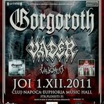Concert Gorgoroth si Vader pe 1 decembrie la Cluj-Napoca