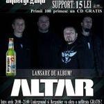 Concert de lansare album Altar in Underground Pub din Iasi