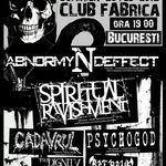 Concert Abnormyndeffect, Spiritual Ravishment si Cadavrul in Bucuresti