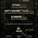 Kruna Marta: ATOMA, DIRTY GRANNY TALES si SLUMBER in Brasov