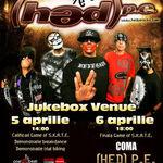 Concert (HED) P.E. vineri la Jukebox Venue din Bucuresti