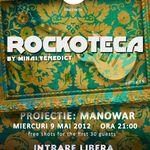 Proiectie MANOWAR la rockoteca lui Mihai Venedict din Iasi