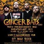 Concert CANCER BATS luni in Gambrinus Pub din Cluj