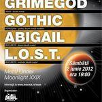 Poze cu Grimegod, Gothic, Abigail si L.O.S.T. in concert la Bucuresti