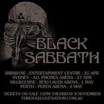 Black Sabbath anunta un turneu in Australia