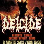 Programul concertului DEICIDE la Bucuresti