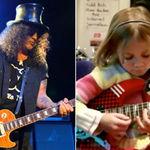 Slash, uimit de o fetita de 7 ani ce-i canta piesele la chitara