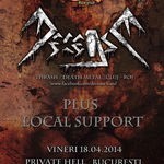 Concert Decease in Private Hell - detalii finale si line-up
