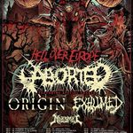 Aborted, Origin si Exhumed pornesc in turneu european